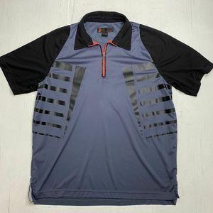 Jamie Sadock 1/4 Zip Athletic Polo Shirt Mens Sz L